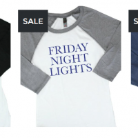 Cents of Style: Friday Night Lights Raglan Tee $16.95 Shipped (10/11 only)