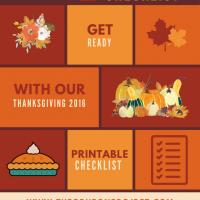 Thanksgiving Day Checklist