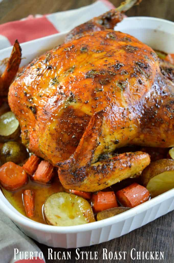 Puerto Rican Style Whole Roasted Chicken Recipe The Coupon Project