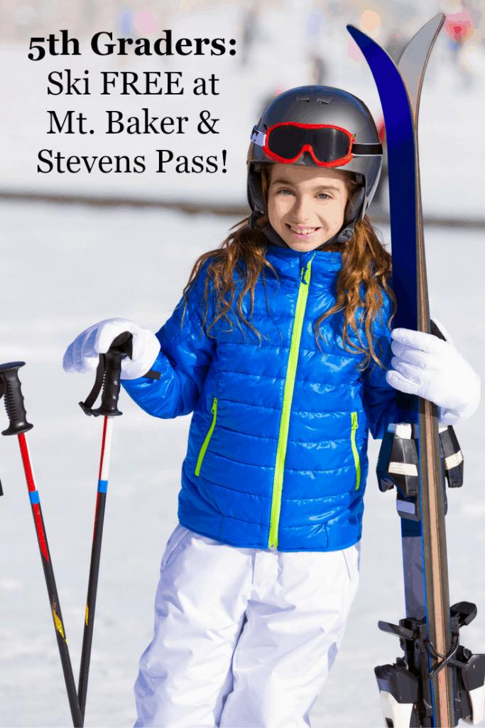 5th Graders: Ski Free at Stevens Pass & Mt. Baker