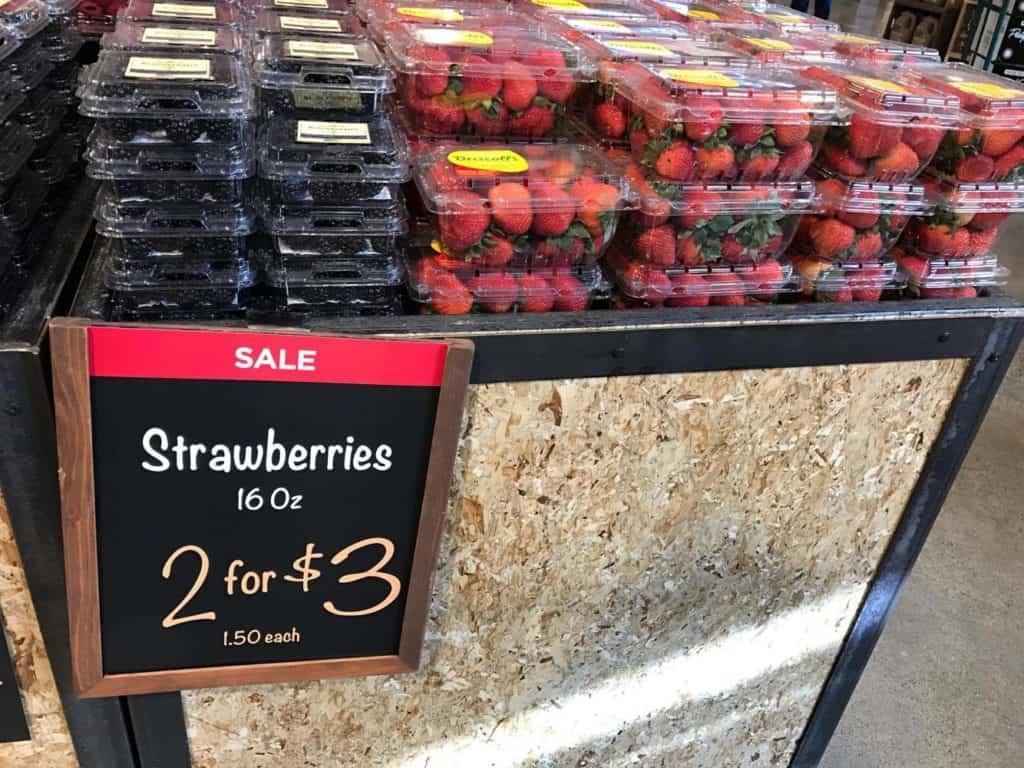 Strawberries on Sale