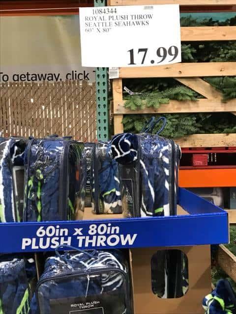 Plush Seahawks Throw at Costco