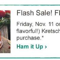 Main & Vine Flash Sale: *HOT!* FREE Ham with $100 Purchase (11/11 only)