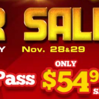 Wild Waves Cyber Sale – 2017 Season Pass Discount (Nov 28-29)