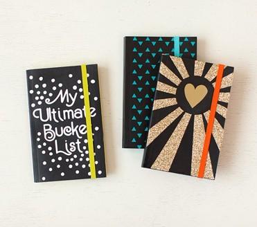 Cricut Project - 3 Black Notebooks