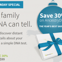 Ancestry: DNA Test $69 (reg. $99) – Cyber Monday Special