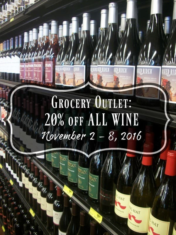 Grocery Outlet: Save 20% off All Wine
