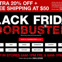 Macy's Black Friday Doorbusters Online NOW! + Extra 20%, Free Shipping with $50!