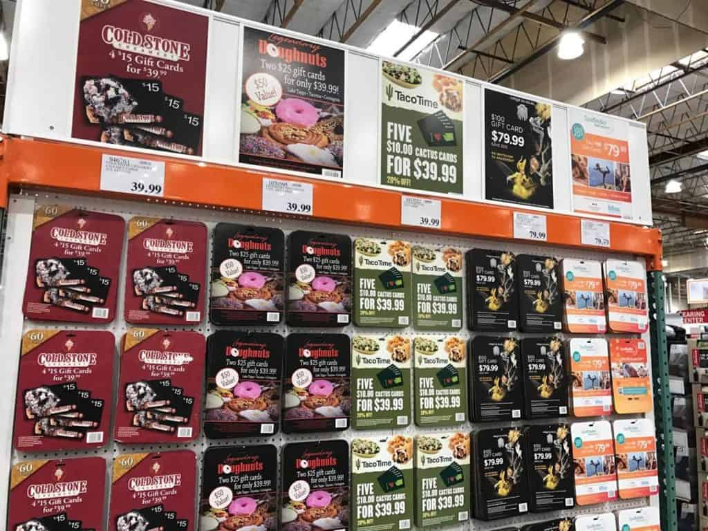 Gift Cards at Costco