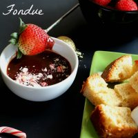 Peppermint Chocolate Fondue Recipe