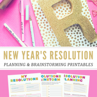 Free New Year's Resolutions Planning Printables