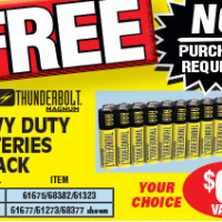 Harbor Freight: FREE 24 Pack Batteries Printable Coupon (No purchase required!)
