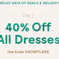 ModCloth: Save 40% off All Dresses, 12/6 only!