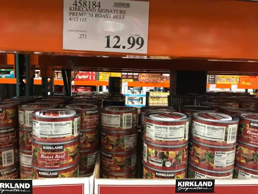 Roast Beef in a Can at Costco