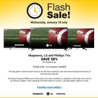 Fred Meyer Flash Sale: 50% off Magnavox, LG and Phillips TVs (1/18 only)
