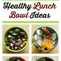 5 Healthy Lunch Bowl Recipes {perfect for the work week!}