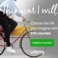 Udemy: All Online Courses $10 each (Get help with your New Year's resolutions!)