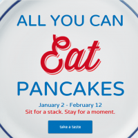 IHOP: All you can eat Pancakes (1/2 – 2/12)