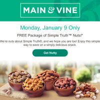 Main & Vine Flash Sale (1/9): Free Simple Truth Nuts