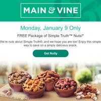 Main & Vine Flash Sale (1/9): Free Simple Truth Nuts