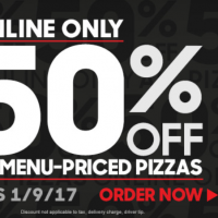 Pizza Hut: Save 50% off online orders (valid through 1/9)