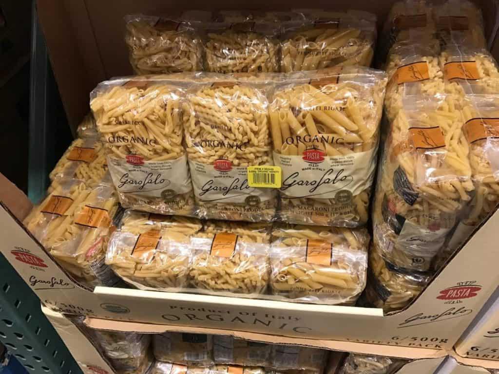 Organic Pasta at Costco
