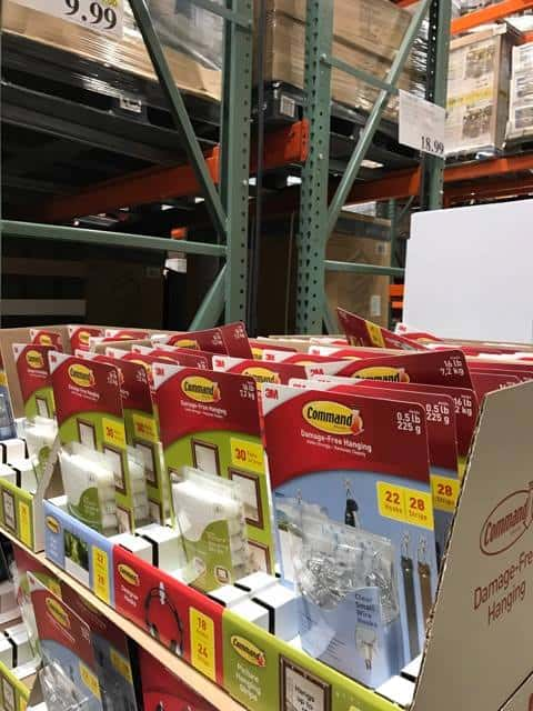 Command Hanging Products at Costco