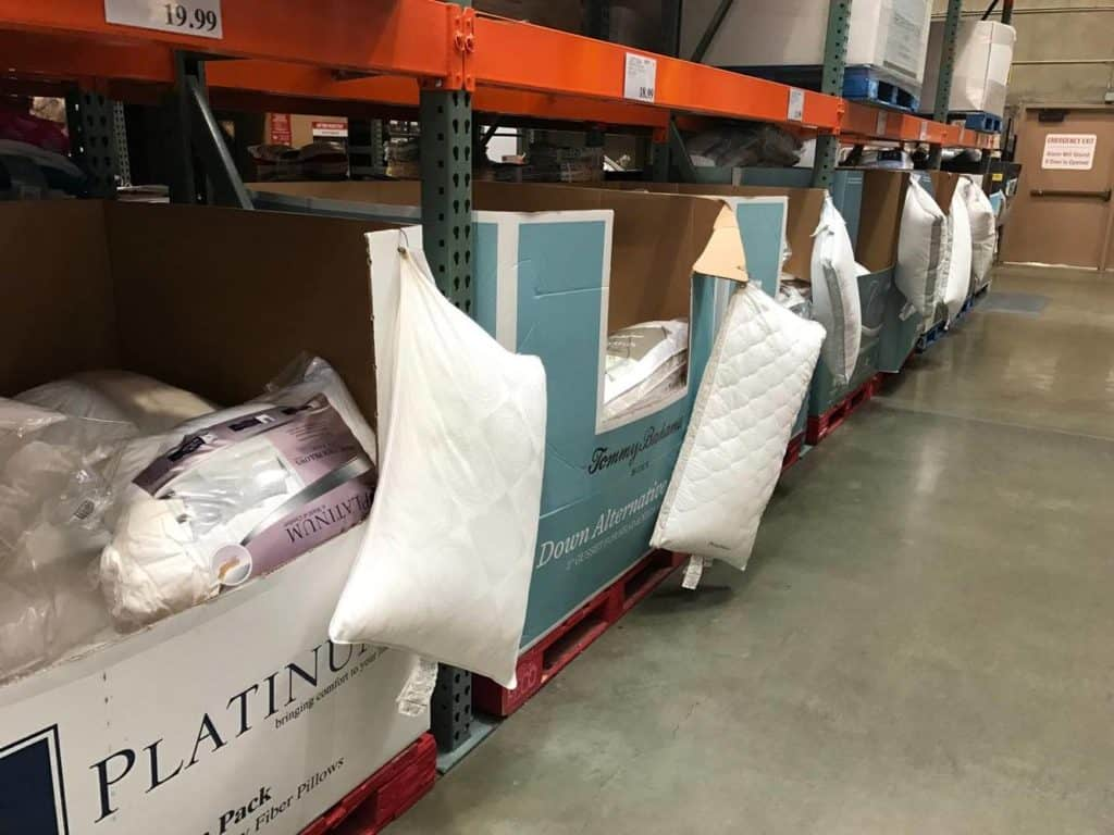 Pillows at Costco