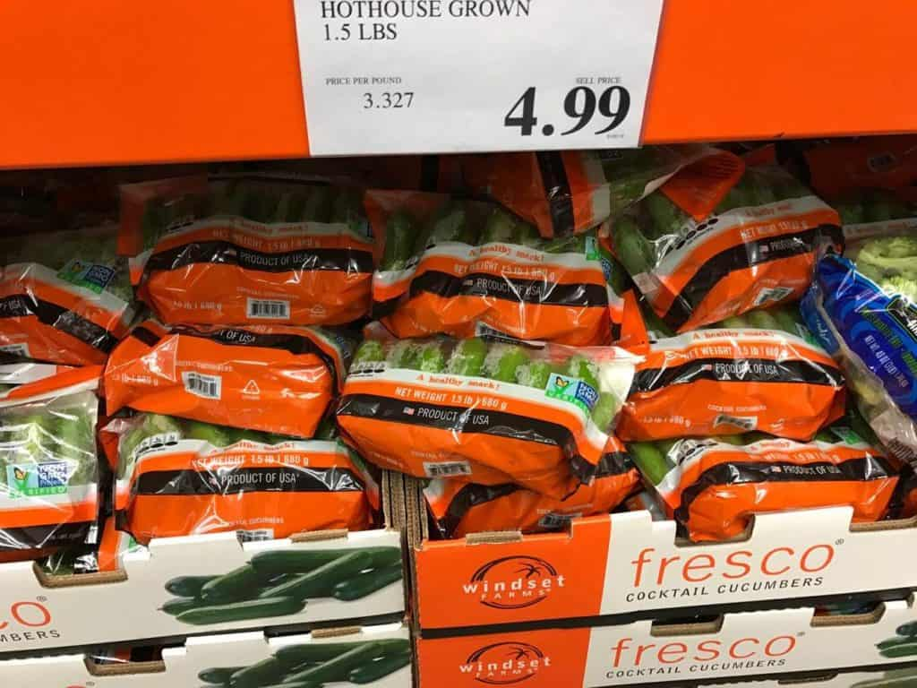 Cucumbers at Costco