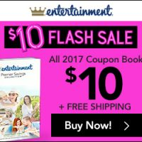 *LAST DAY* Entertainment Coupon Book: $10 + Free Shipping Flash Sale!
