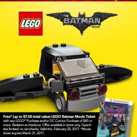 Free LEGO Batman Building Event at Toys R Us – Saturday, 2/11