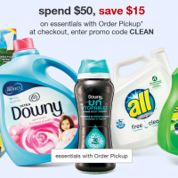 Target: Save $15 on $50 Household Essentials Purchase with Order Pickup