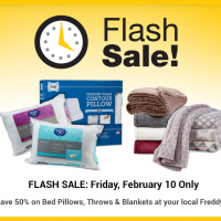 Fred Meyer Flash Sale: All Pillows & Throws 50% (2/10 only)