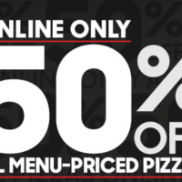 Pizza Hut: 50% off Online Orders (through 2/27)