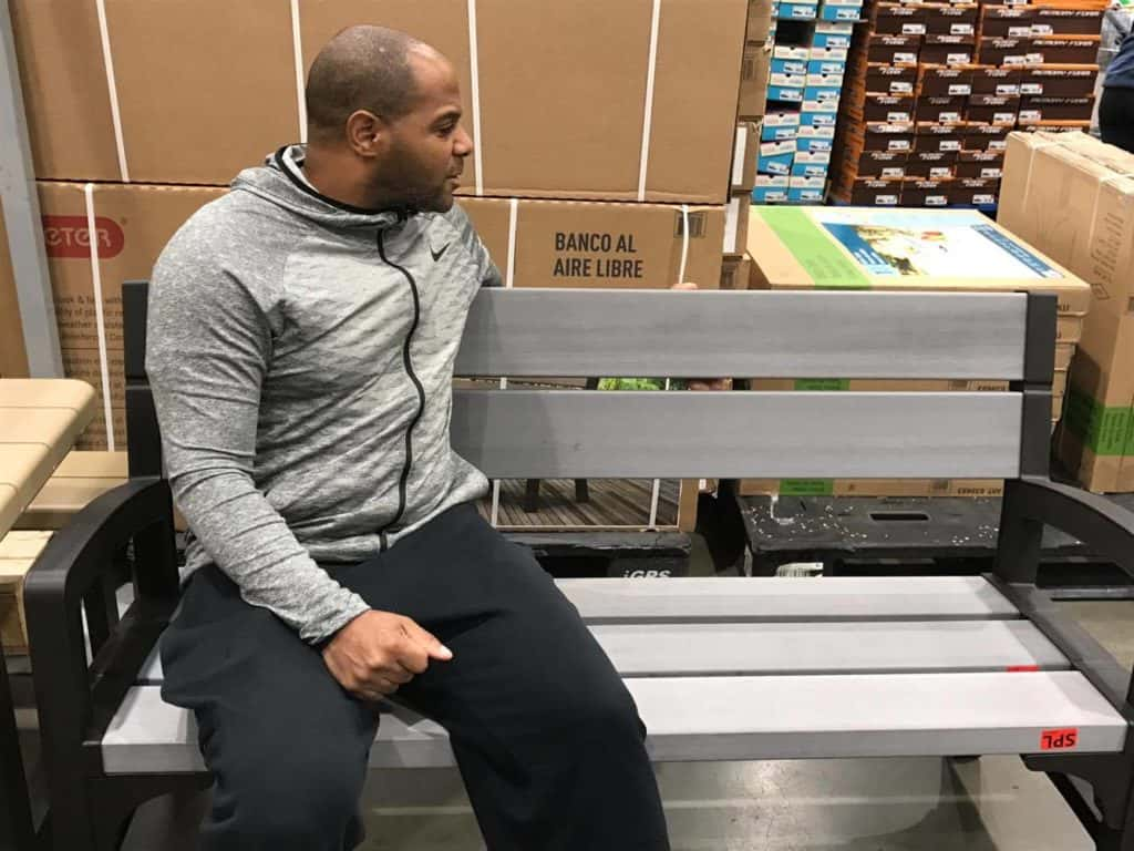 Bench at Costco