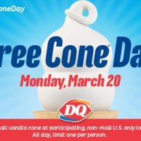 Dairy Queen: FREE Cone Day March 20th