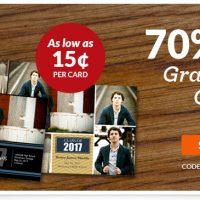 Custom Photo Graduation Cards from 21¢ each