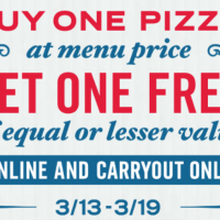 Domino's: Buy one, get one free pizza (online/carryout)