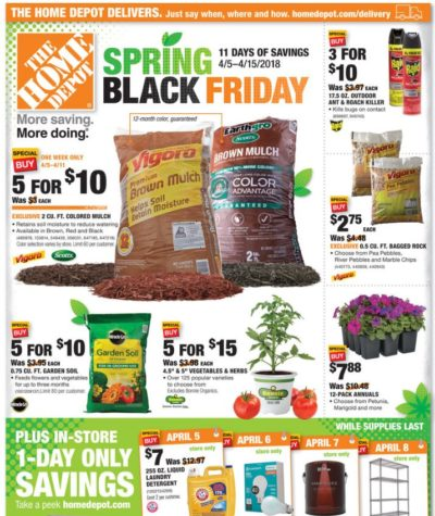 Home Depot Spring U201cBlack Fridayu201d U2013 HOT Deals On Mulch, Garden Soil U0026 More! Home Design Ideas