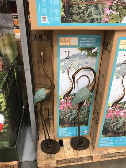 Garden Cranes at Costco