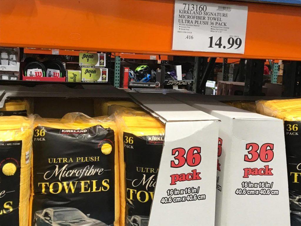 Microfibre towels at Costco