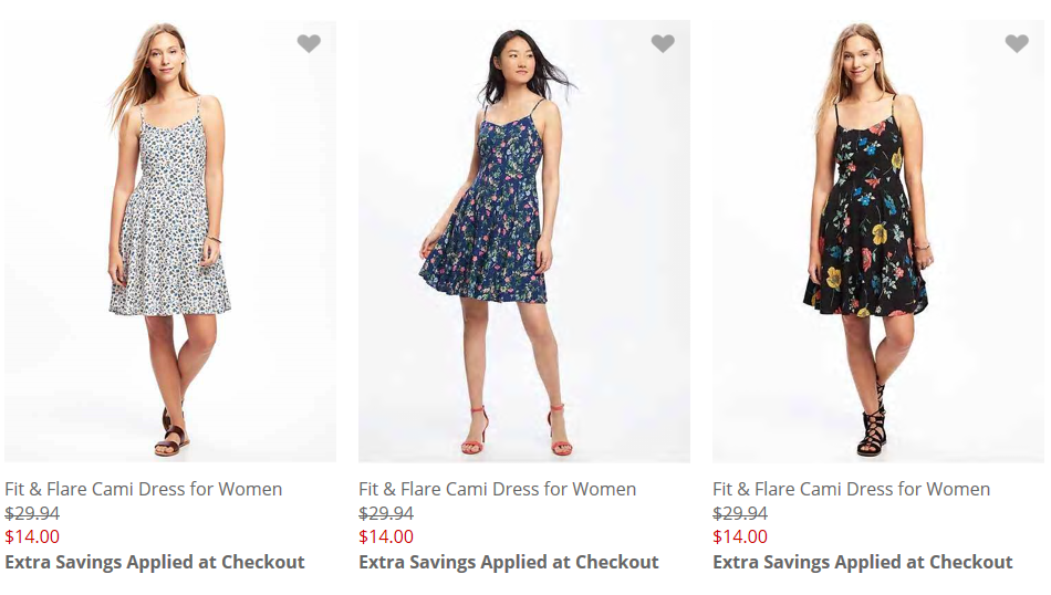 889a511ca Old Navy has some pretty cute dress styles for women on sale right now,  with prices as low as $14! Even better, when you place your order online by  4/21, ...