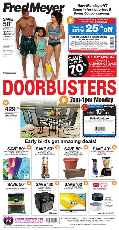 Fred Meyer Memorial Day Sale Doorbusters 2017