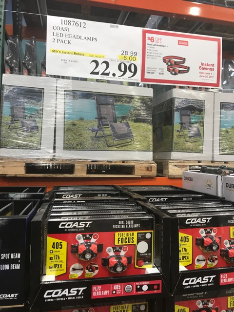 Headlamps for $22.99 at Costco