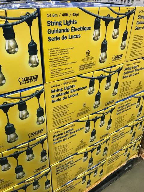 String Lights at Costco
