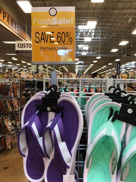 392dc6087889 Earlier this morning, I shared that Fred Meyer is running a Flash Sale  where today only (Thursday, June 22nd) you can save 60% on flip-flops,  sandals and ...