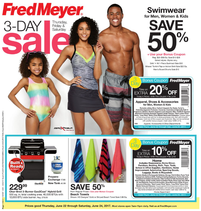 6ca34961da62 Fred Meyer kicked off a 3-day sale today (Thursday, June 22nd). It runs  through Saturday, June 24th and you can view the entire add at ...