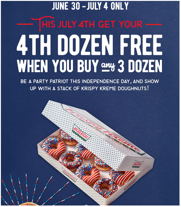 May The 4th Be With You Deals: Krispy Kreme: Buy 3 Dozen Doughnuts, Get 4th Free (through