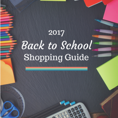 Back to School Shopping Guide and Price Points for 2017