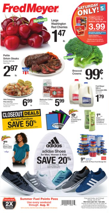 Top Fred Meyer Weekly Coupon Deals 7 23 – 7 29 $1 47 lb